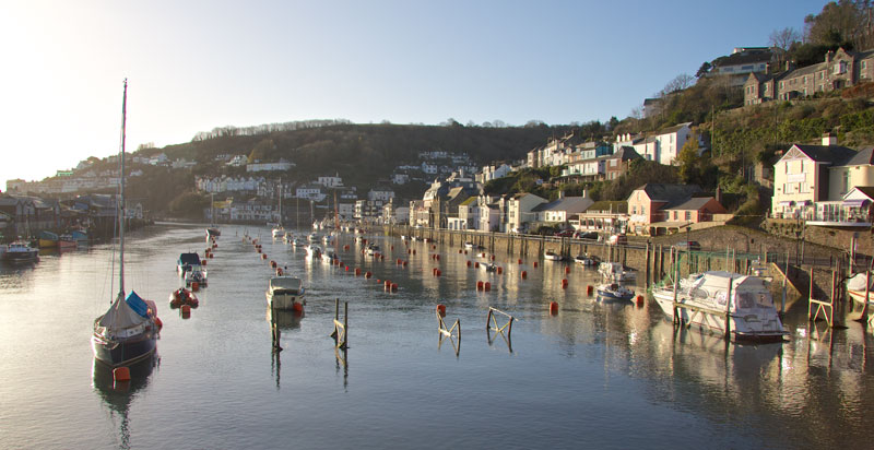 Looe Harbour in December