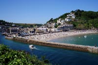 Looe Beach from the west