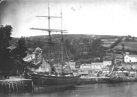 old sea vessel at Looe